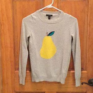 Warm J.crew  gray pear sweater size XS